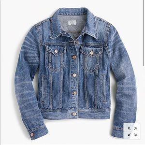 NWOT Jcrew petite denim jacket in newton wash
